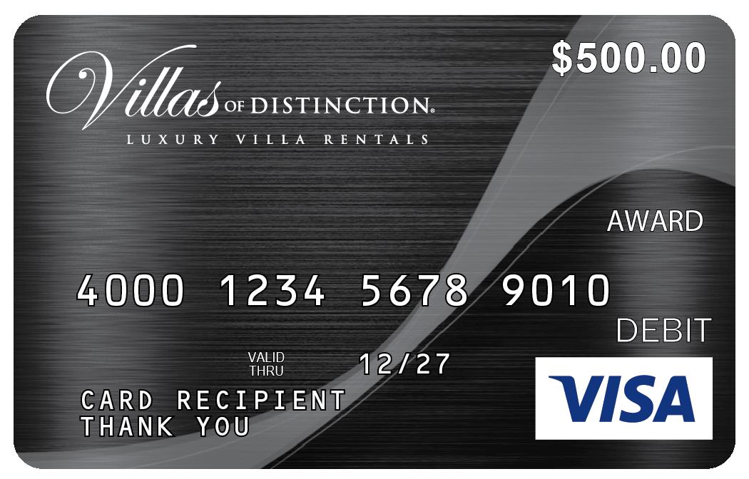 Villas of Distinction Visa Prepaid Card
